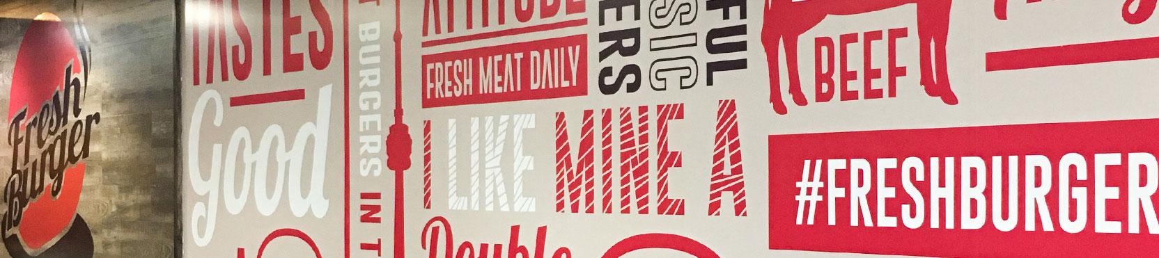 Freshburger Franchising wall art